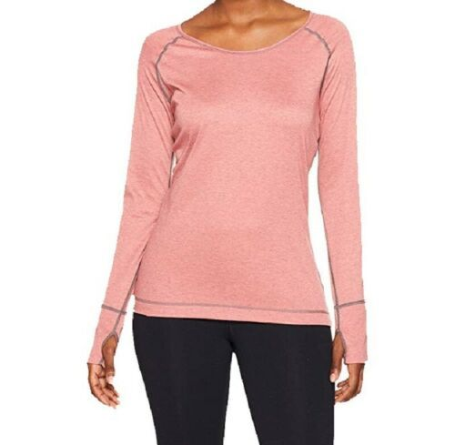 Large 12-14 Hot Chillys Women's Shirt Geo-Pro Long Sleeve Scoop Top Long Sleeve