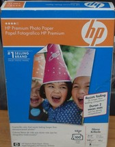 """Hp Premium Photo Paper - 4 X 6"""" - 100 Sheets - Brand New Package - Great Item - $17.81"""