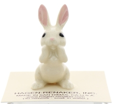 Hagen-Renaker Miniature Ceramic Rabbit Figurine White Bunny Papa