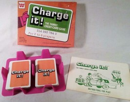 VINTAGE 1972 WHITMAN CARD GAME CHARGE IT THE FAMILY CREDIT CARD GAME COM... - $27.08