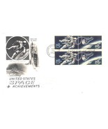 US Space Achievements First Day Cover Block of 4 1967 with cachet - $4.99