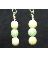 Yellow/Green Egyptian Eye Earrings - $5.00
