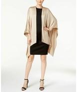 Calvin Klein Glitter-Trim Evening Wrap (Almond, One Size) - $52.14