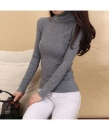 Cashmere Sweater Women Turtleneck Pullover Ladies sweaters Shirt Hot Sal... - $48.80