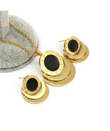 Famous Brand Roman Numberal Jewelry Set Stainless Steel dubai earring ne... - $19.69