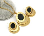 Nd roman numberal jewelry set stainless steel dubai earring necklace set for women thumb155 crop