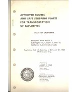 Approved Routes Transportation Explosives California 1968 book vintage - $7.50