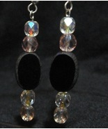 Cheap Elegance Handcrafted Earrings Black Facet... - $10.00