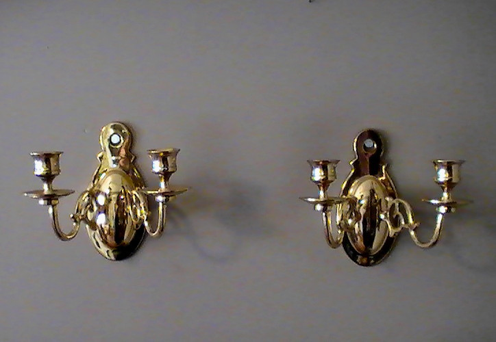 Baldwin Wall Sconces Heavy Brass 2 Arm Oval Set of two - Sconces