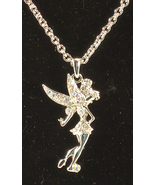 Disney's Tinkerbell Rhinestone Studded Necklace - $6.75
