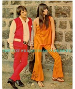 SONNY BONO AND CHER AUTOGRAPHED 6x9 RP PHOTO GOT YOU BABE - $14.99