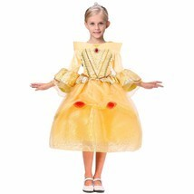 Y and beast cosplay dresses for girls belle princess kids girls costume dress christmas thumb200
