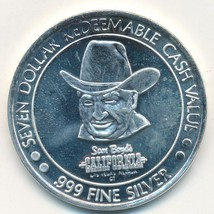 SAM BOYD'S CALIFORNIA $7 SILVER TOKEN .999 FINE-HAWAII/VOLCANO-20 GRAMS-... - $27.95