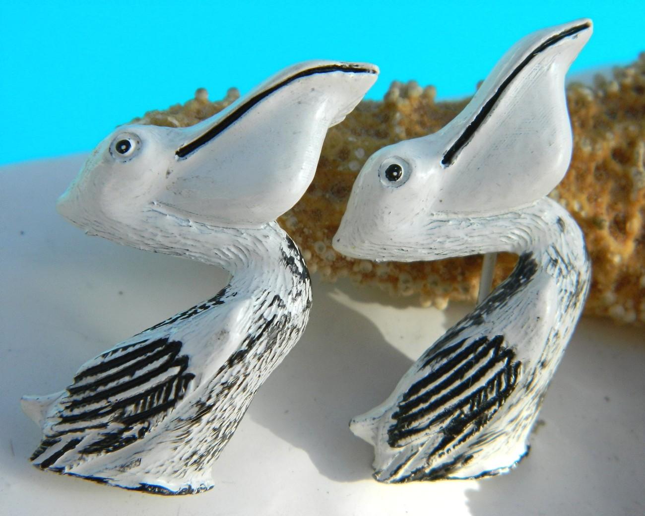 Vintage Pelican Sea Bird Matching Scatter Pins Enamel Gerrys