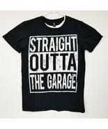 Straight Outta The Garage Black Tee T-Shirt Size Medium EUC Lightweight - £11.67 GBP