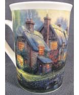 Thomas Kinkade Cobblestone Bridge Coffee Cup Mug 8oz Ceramic 2000 - $17.95