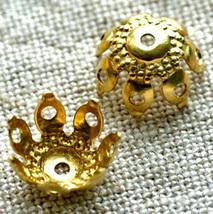 200 Wholesale Bulk Brass Filigree Bead Caps bc08 - $11.40