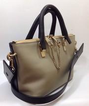 Chloe Porte Epaule Baylee Leather Shoulder Tote Bag Handbag Black Grey - $919.70