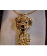 Gossip Pave' Style Crystal Covered Dog Goldtone PendantWatch w/ Chain - $56.00