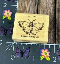 Stampin Up Moth Rubber Stamp 2004 Lifelike Detail Wood Mount Insect #J12 - $3.47