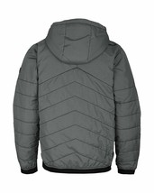 Bench Ahlo Black Charcoal Grey Quilted Lightweight Winter Jacket Hood BMKA1469 image 2