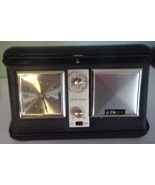 Vintage AIMOR Travel Clock & Radio Leather Case... - $27.71