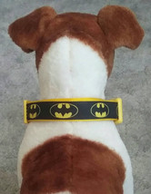 Batman dog collar, dog collar, Black and yellow dog collar, custom made ... - $16.00+