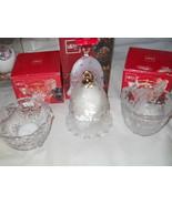 Set 3 Christmas MIKASA Silent Night Bell Santa ... - $39.91