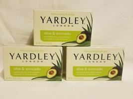 Lot 3 Yardley Soap Aloe & Avocado 4.25oz - $14.84
