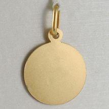 Pendant Yellow Gold Medal 750 18k, Santa Rita of Cascia, 15 mm, Made in Italy image 3