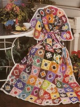 Z526 Crochet PATTERN ONLY Wish Upon a Star Granny Square Afghan Throw Pattern - $7.50
