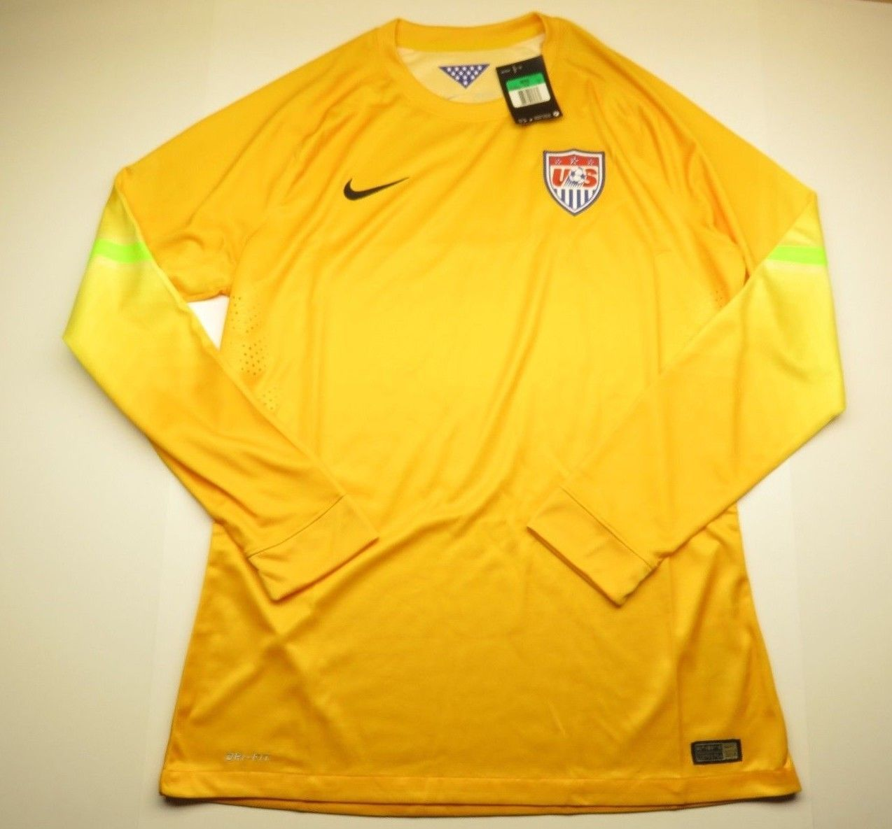 0fb80d0c0 NEW Yellow NIKE US Soccer Jersey Long Sleeve and 50 similar items