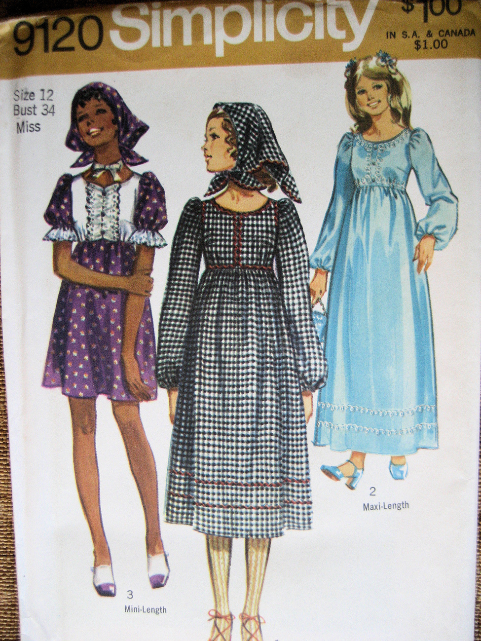 Simplicity 9120 Vintage 60s  Womans 12 High Waisted Dress  Simplicity New Look