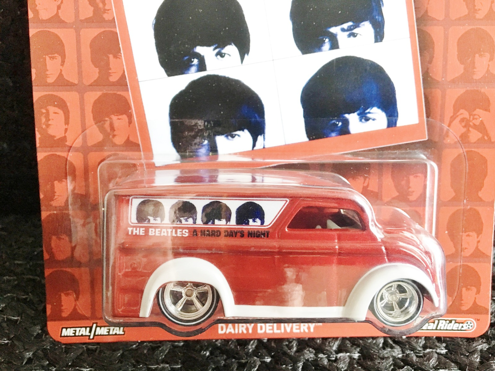 Hot Wheels The Beatles ALBUM A HARD DAYS NIGHT DAIRY DELIVERY Metal RealRider
