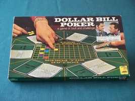 Dollar Bill Poker by E.S. Lowe 1974 Good Condition - $9.00