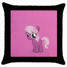 Throw pillow case pony small horse cute kawaii childish baby room pink - $19.50
