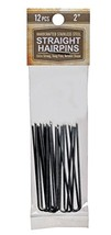 "2"" Inch Straight Stainless Steel Heavy Duty Snagless Hairpins Pack of 12... - £6.23 GBP"