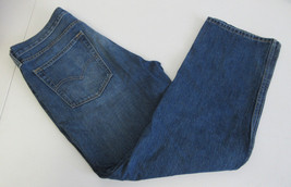 Levi Men's 514 Straight Leg Medium Wash Distressed Jeans 36 x 32 - $18.80