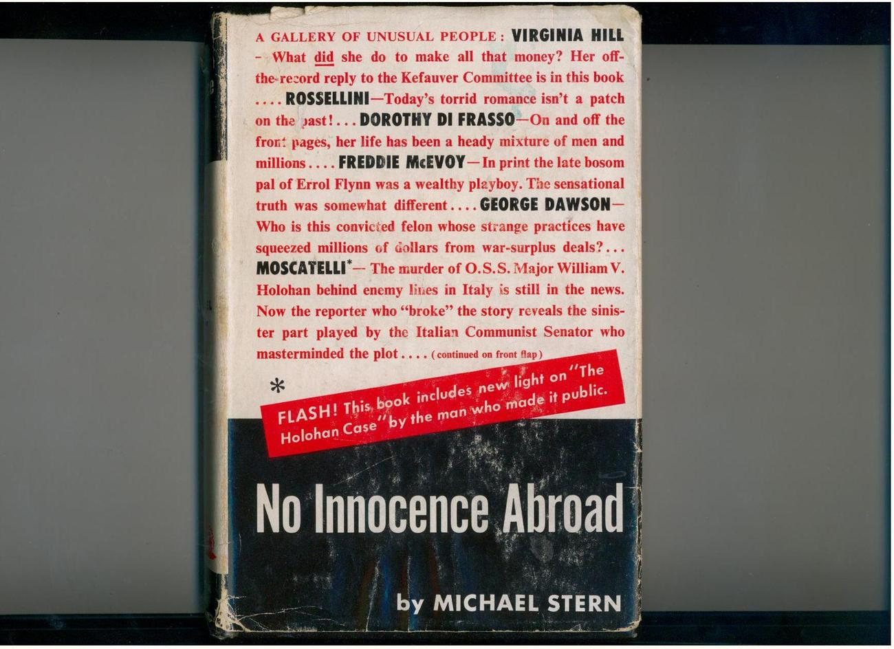 Michael Stern  NO INNOCENCE ABROAD  1953, 1st, exposes, oop
