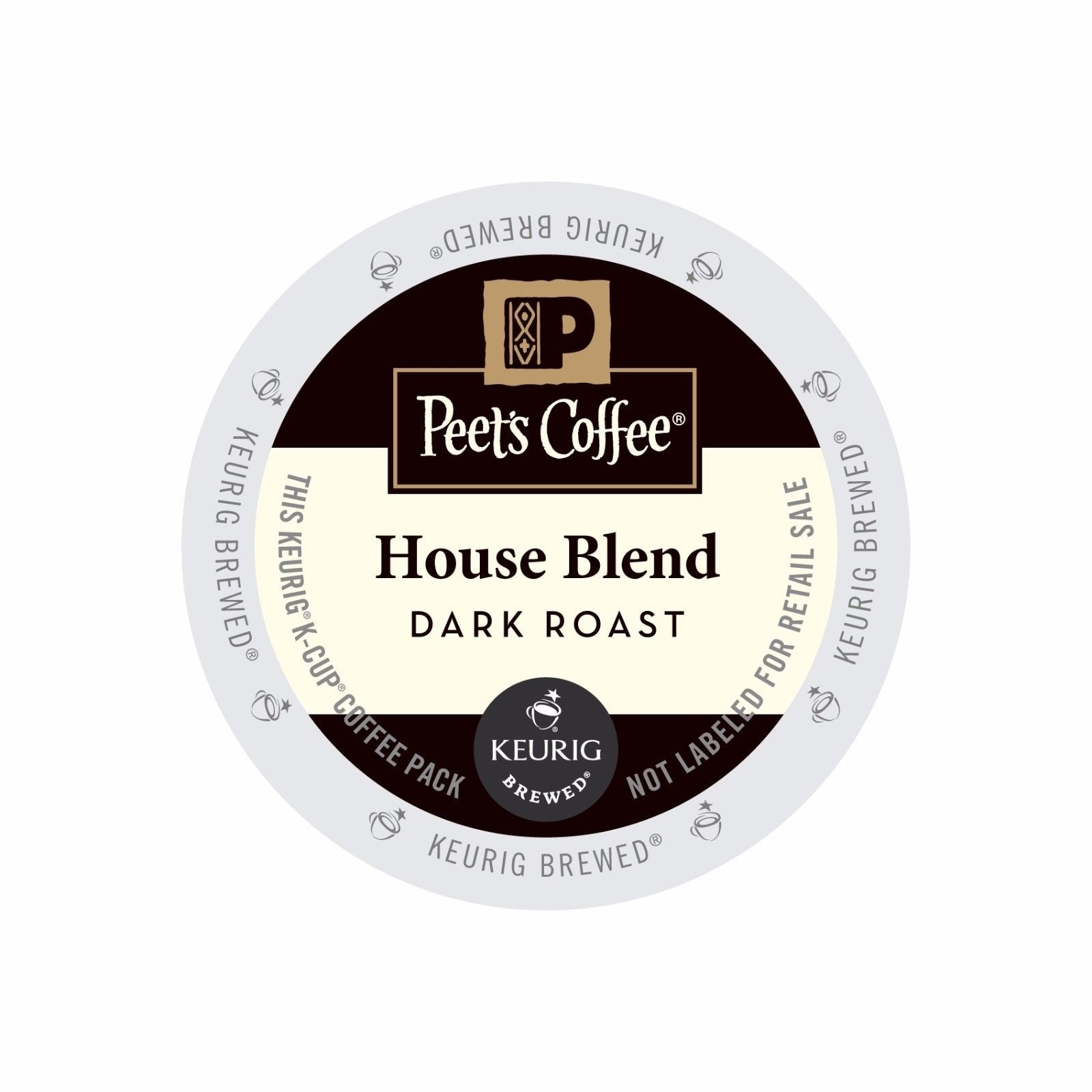 Peet's Coffee House Blend Coffee, 88 count K cups, FREE SHIPPING !