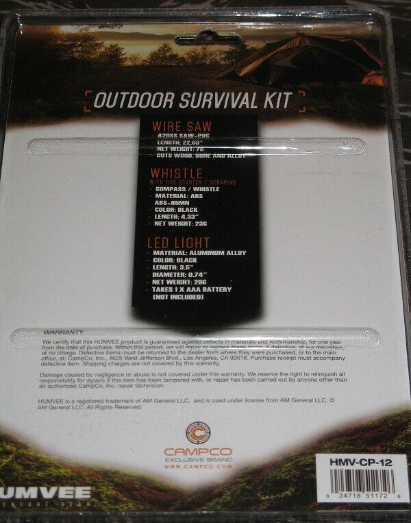 CampCo Humvee Outdoor Survival Kit