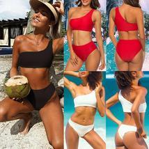 Women High Waist Swimwear Bikini Set Push-up Padded Bra Bathing Suit Swimsuit image 8