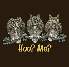 Owl Sweatshirt S M L Unisex Humor New Hoo Me Brown NWT Cotton Gildan NEW - $25.25