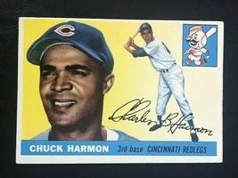 1955 Topps Baseball Card #82 CHUCK HARMON - Cincinnati Redlegs  (A) - $3.47
