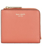 kate spade Margaux Pebble Leather Bifold Compact Wallet Card Case ~NWT~ Peachy - $84.15
