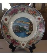Vintage Wisconsin Dells Souvenir Plate Kitsch Rose Transferware Cliffs B... - $14.95