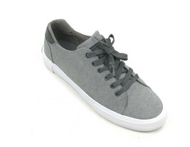 NEW TOMMY HILFIGER GRAY FABRIC PAWLEYS LACE UP SNEAKERS SIZE 8 - $24.75