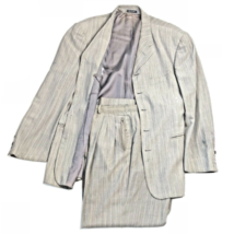 Zanetti Men's Suit Jacket Pants Gray Pinstripes Design Trouser Made In I... - $49.49