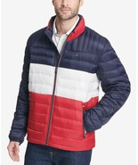 Tommy Hilfiger Men's Down Quilted Packable Logo Jacket Midnight Buff - $97.50