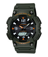 Casio - AQS810W-3AVCF - Men's  Solar Watch with Green Band - $39.55